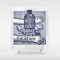 whiskey Shower Curtains featuring Whiskey by hugraphic