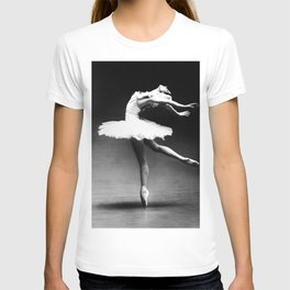 Swan Lake Ballet Magnificent Natalia Makarova black and white photograph  T-shirt