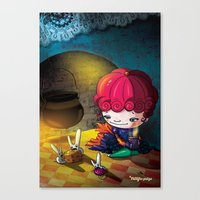 cinderella Canvas Prints featuring Cinderella by  • naylapulga