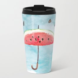 Melon- Fruity Summer Rain Metal Travel Mug