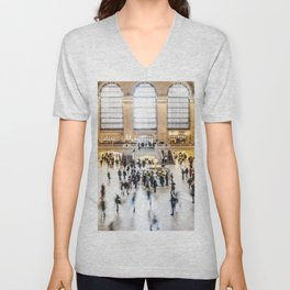 Grand Central Station New York City Unisex V-Neck