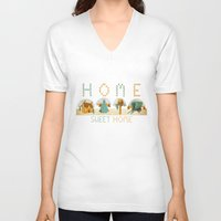 home sweet home V-neck T-shirts featuring home sweet home by Kerry Hyndman