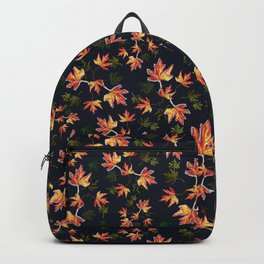 Autumn nature-Fall season, orange leaves, original pattern Backpack