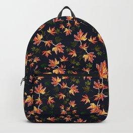 Autumn nature-Fall season, orange leaves, original pattern Backpack