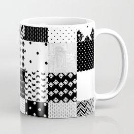 Patchwork Black & White Coffee Mug