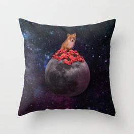 Lonely Fox Throw Pillow
