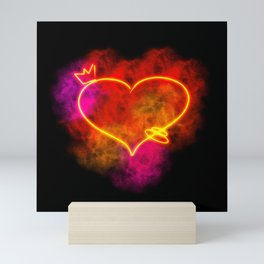 Heart on Fire Mini Art Print
