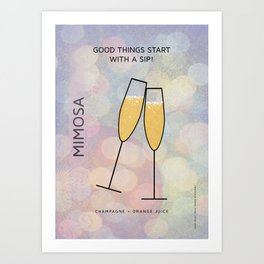 MIMOSA COCKTAIL Art Print