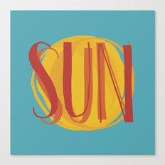 Hot Sun on Blue Sky Canvas Print