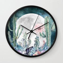 Desert Nights Gemstone Oasis Watercolor Wall Clock