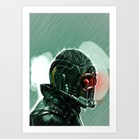 star lord Art Prints featuring Star-Lord by Luke Fisher