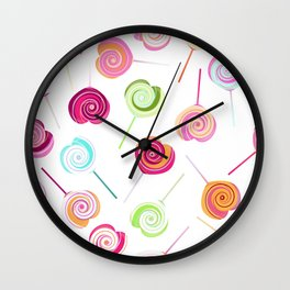 Candy and Sweets Lollipop Pattern Wall Clock