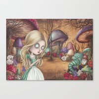 returns Canvas Prints featuring Alice returns by Caroletta