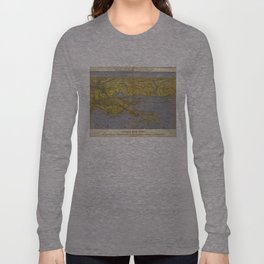 Vintage Pictorial Map of The Gulf (1861) Long Sleeve T-shirt