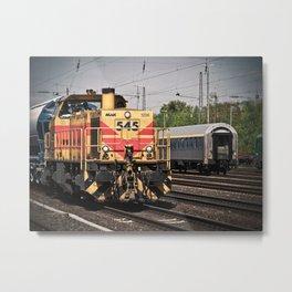 Locomotive at the Station Metal Print