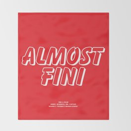Howlin' Mad Murdock's 'Almost Fini' shirt Throw Blanket