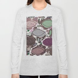 Abstract Active Wear Pattern With Colorful Colors Long Sleeve T-shirt