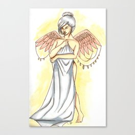 Young angel Canvas Print
