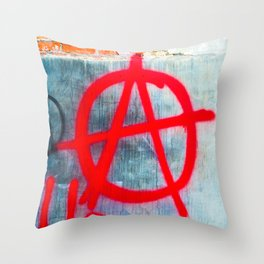 Anarchy Graffiti Throw Pillow