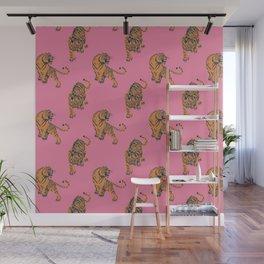 tiger print pink Wall Mural