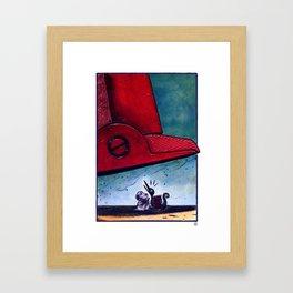 Where is the sun, Snoopy? Framed Art Print