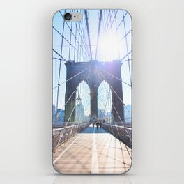 303. Sunny Brooklyn Bridge, New York iPhone Skin