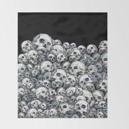 Skull Pattern Throw Blanket