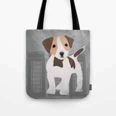 Jack Russel Dog in brown and white color Tote Bag