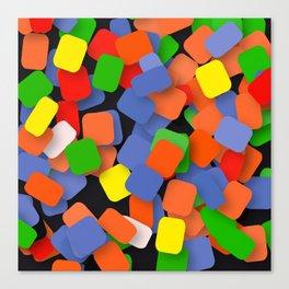 wild color pieces Canvas Print