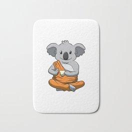 Buddha Koala Drinking Tea Shirt Meditation Peaceful Animal Bath Mat
