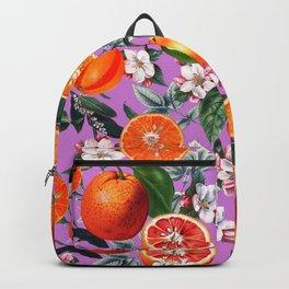 Vintage Fruit Pattern X Backpack