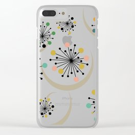 Mid Century Modern Starbursts 1 Clear iPhone Case