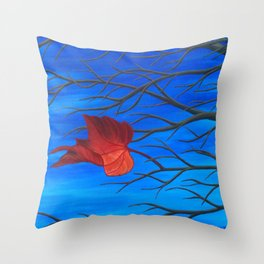 The Last Leaf on the Tree Throw Pillow