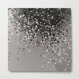 Silver Gray Glitter #1 #shiny #decor #art #society6 Metal Print