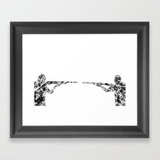Gun fight Framed Art Print