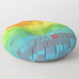 Pixel Rainbow Floor Pillow