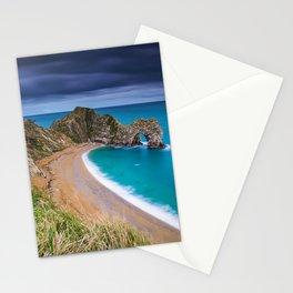 Durdle Door English Channel coast ocean cliff arch seascape Jurassic Coast Lulworth Dorset England Stationery Cards