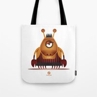 cancer Tote Bags featuring CANCER by Angelo Cerantola