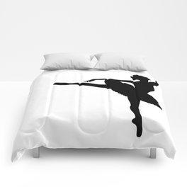Ballerina silhouette (black) Comforters