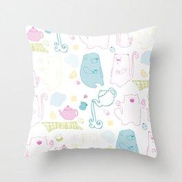It's A Tea Party Throw Pillow
