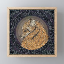 Celtic Fox Framed Mini Art Print