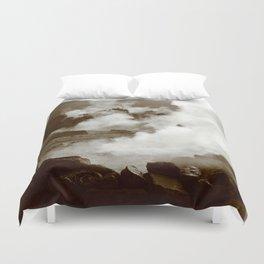 Sleeping volcano Duvet Cover