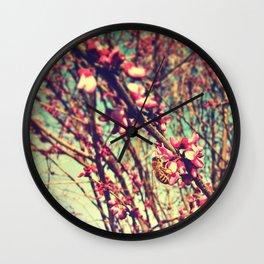 Spring Bee Wall Clock
