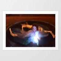 Fire and light Art Print