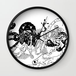 Screw it All (B/W) Wall Clock