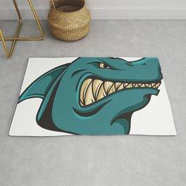 Angry shark Rug