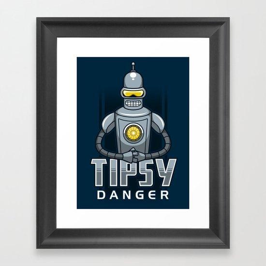 Tipsy Danger Framed Art Print