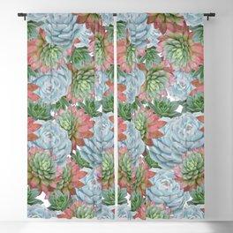 Succulents Pattern #2 #GreenVibes #decor #art #society6 Blackout Curtain