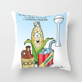 Ethanol & Alchohol Drinking Problem Throw Pillow