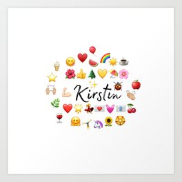 Kirstin bag works Art Print